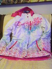 Marvel Avengers Girls Ski Jacket Size Medium Nwt With Removable Hood Pink