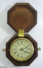 Bombay Company Nautical Swivel Style Wood Cased Brass Clock