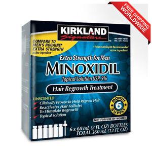 Kirkland Minoxidil 5 % Extra Strength Hair Loss Regrowth Treatment Men 6 Month