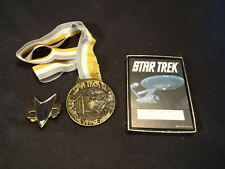 Star Trek Lot The Voyage Home Metal Gold Silver Tone Pin & Collection Id Cards