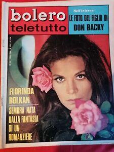 BOLERO TELETUTTO 1158 1969 FLORINDA BOLKAN Don Backy NADA Paoli Miranda Martino