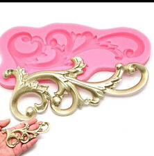 Silicone Lace Flower Border Mold Mould Chocolate Cake Decorating Baking Tool