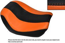 Diseño 2 Negro Y Naranja Custom encaja Harley Noche V Rod especial delantera cubierta de asiento