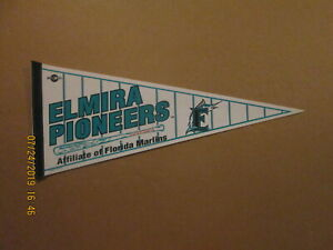 NYPL Elmira Pioneers Vintage Defunct Circa 1993 Team Logo Baseball Pennant