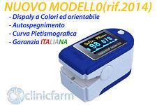SATURIMETRO DA DITO Pulsossimetro OSSIMETRO display a colori orientabile BLUE