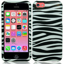 For Apple iPhone 5C HARD Protector Case Snap On Phone Cover Zebra