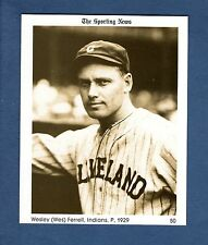 #50 Wes Ferrell, 1929 Indians The Sporting News 1981 Conlon Collection Hof?