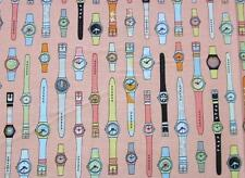 Geeky Swatches Orange Retro Watch Riley Blake Fabric Yard