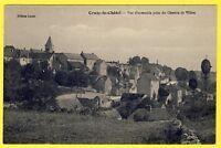 cpa Village de CRUZY le CHÂTEL (Yonne) Vue prise du CHEMIN de VILLON Eoliennes