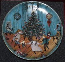 "P Buckley Moss ""Christmas Joy"" Anna Perenna Plate Certificate 3969 of 7500 +Box"