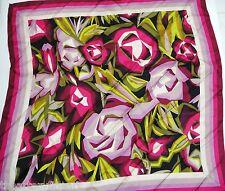 "MISSONI x Target Purple Passione Floral Scarf 100% Silk 28"" x 28"" Square **NWT**"