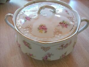 VINTAGE COVERED SERVING CHINA DISH - MARKED AS RICHMOND BAVARIA