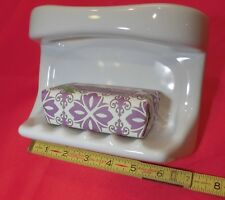 "*Glossy White* Ceramic Soap Dish with washcloth holder...Wall Mount  ""New Stock"""