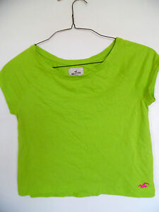 Hollister  Lime Green  Short sleeve Top Shirt Blouse Size XS