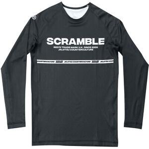 Scramble BJJ Ranked Long Sleeve Rashguard - Black