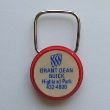 vintage BUICK key ring—Grant Dean Buick in Highland Park, IL c.1975—excellent