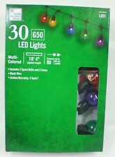 Home Accents 30 Lights G50 LED Christmas Lights Multi Color 19 Feet Long Patio