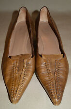 Womens Marni Brown leather shoes sz 38 1/2