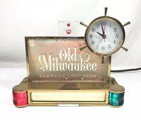 1962 Old Milwaukee Light Beer Clock Sign Vintage Cash Register Topper - Working
