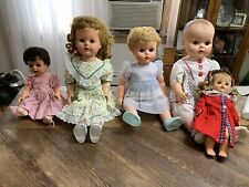 Lot 5 Vintage 1960s 70s Baby Dolls Horseman & Other's ? and clothes