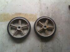 Pair of 14 Inch Aluminum Wheel Industrial Factory Cart