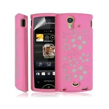 Shell silicone case cover for sony ericsson xperia ray color flower design
