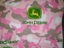 JOHN DEERE TRACTOR LOGO PINK POLAR FLEECE BABY TODDLER  BLANKET NEW HANDMADE