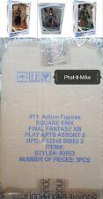 Square Enix Final Fantasy XIII: Play Arts Kai: Hope Estheim, Sazh, Fang Case MIB