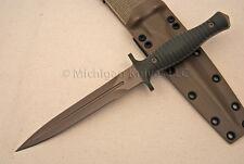 Spartan Blades V-14 Dagger Knife - CPM S35-VN SS - FDE / Green G10 w/ Tan Kydex