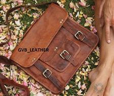 Genuine Real broad Leather Messenger Business Laptop Briefcase Satchel Bag