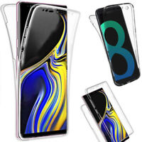 New 360 Case For Samsung Galaxy S8 & S8 Plus Slim Gel Shockproof Silicone Cover