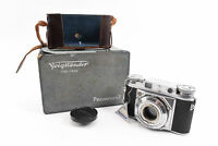 Voigtlander Prominent 35mm Rangefinder Camera Body with Cap & Box TESTED V20