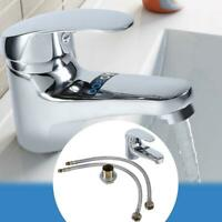 Bathroom/Kitchen Silver Basin Sink Vanity Mixer Faucet Single Handle Zinc Tap US