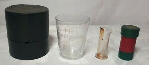 antique medicine glasses by S, Mawson & Son Medicine Glasses / Measures in case