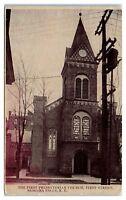 Early 1900s First Presbyterian Church, First Street, Niagara Falls, NY Postcard