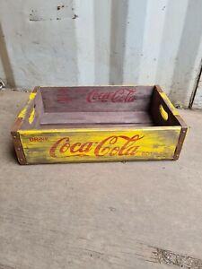 Vintage Coca Cola crate wooden tray crate