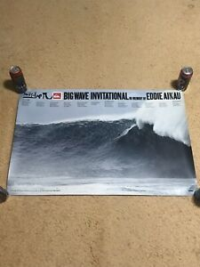 QUIKSILVER EDDIE AIKAU WOULD GO 2006 EARE WAIMEA BAY HAWAII POSTER BROCK LITTLE