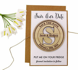 Personalized Wedding Magnet Wedding Save The Date Cards Favor With Envelope-MG20