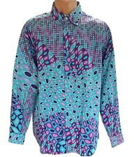 "Versace Mens Vtg 90s Retro Cotton Casual Fashion Print Shirt size 42 / 16.5"" Z54"