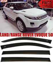 For LAND/RANGE ROVER EVOQUE 5D Window Black Visor Rain Sun Guard Deflectors