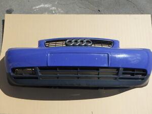 Audi A3 8L Stoßstange Frontstoßstange vorne blau LY5M mit Grill