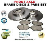 Front Axle BRAKE DISCS and brake PADS SET for JAGUAR XJ 3.0D 2009-2015