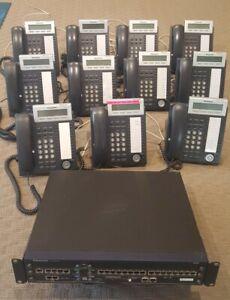 11 X PANASONIC KX-DT333 OFFICE PHONES LOT & KX-NCP500 IP-PBX RACK 16 EXTENSION