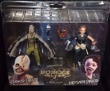 "BIOSHOCK 2 sur chenilles colleuse & Ladysmith colleuse 2-Pack 7"" figurines. Neuf! RARE!"