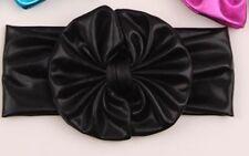 Messy Bow Headband Baby Toddler Girls Black NEW
