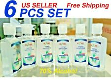 Hand Sanitizer With Aloe Vera gel (2.02 Oz), 6 Pcs Set, 70% Alcohol,Travel Size