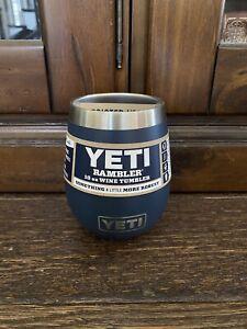 New Yeti Navy Blue 10oz Wine Tumbler