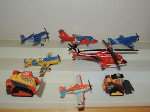 Lot of 8 Disney Pixar Planes Diecast Airplane Mattel toys Fire & Rescue