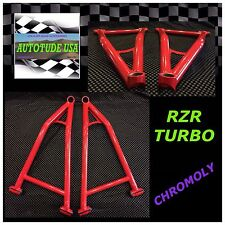 2017 POLARIS RZR XP TURBO, EXTREME CLEARANCE ARCHED CHROMOLY LOWER A-ARMS, RED
