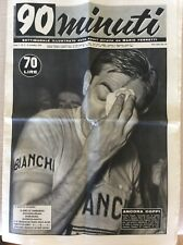 CICLISMO 1954 FAUSTO COPPI CALCIO SAMPDORIA FIORENTINA - RIVISTA 90 MINUTI